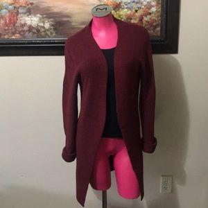 Eddie Bauer Long Sweater 100% Italian Merino Wool